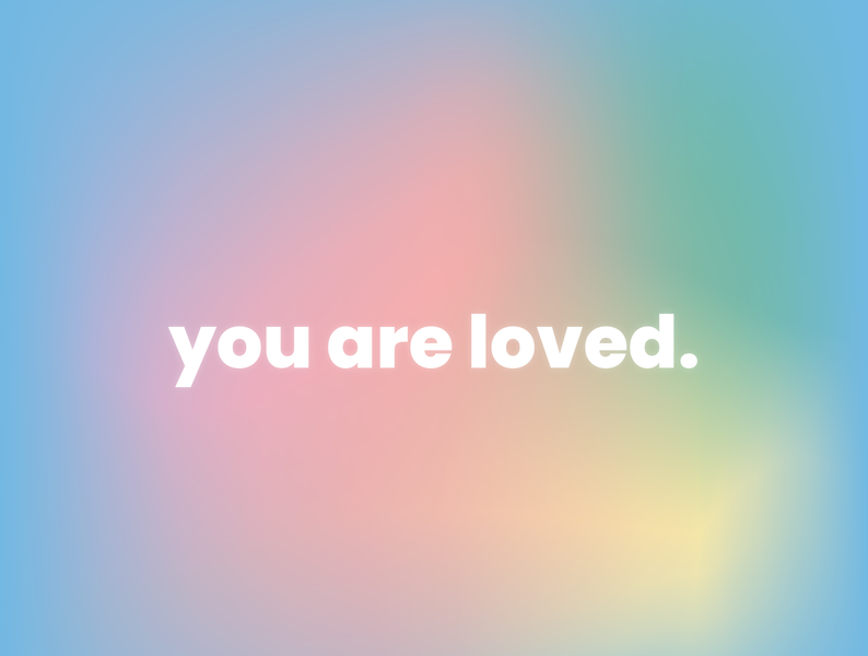 you are loved. flat illustration meshtool illustrator graphics design