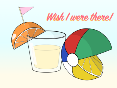 Everything is Citrus food illustration food food and drink design branding summertime citrus beachball shots beach summer dribbbleweeklywarmup