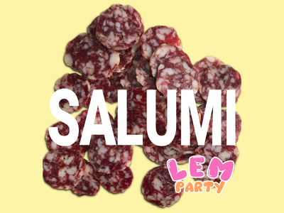 Salumi Text ui ux web logo salami food illustration branding typography food food and drink design