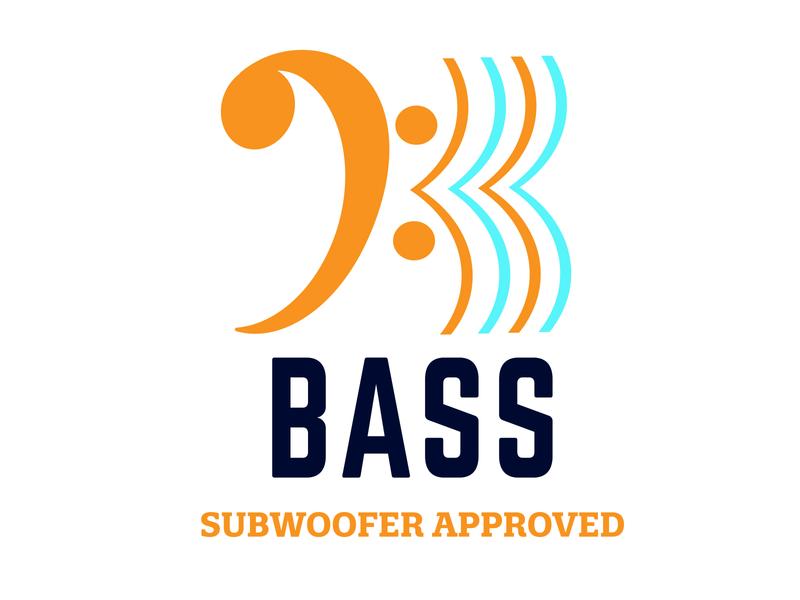 Bass music streaming bass letter vector flat branding minimal icon dailylogochallenge branded logo design