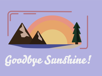 Farewell - Everyday #3 sunset mountains camping illustration outdoor vector minimal icon flat design