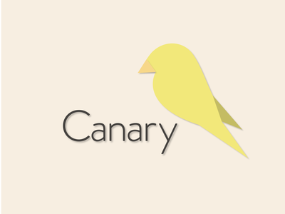Canary - Everyday #4 canary bird letter branding branded vector logo minimal icon flat design