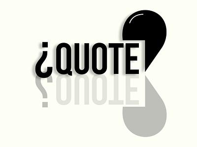 Quote illustration branding typography letter vector logo minimal icon flat design