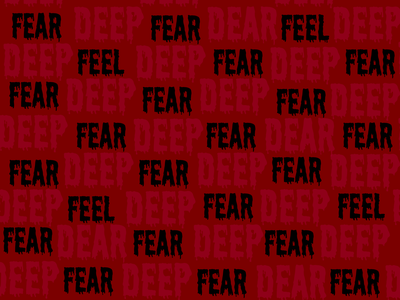 Feel Deep Fear, Dear. horror dear feel deep fear cult illustration letter branding vector logo minimal icon flat design