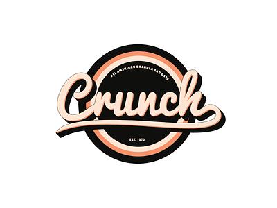 Crunch - Day 21 food crunch snack granola letter illustration branded branding vector logo icon flat minimal design dailylogochallenge