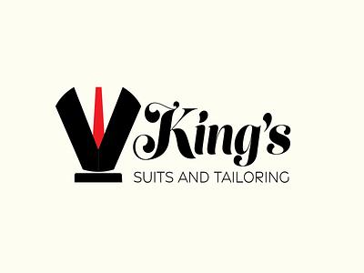 King's Suits - DLC Revisited fashion design fashion brand chess tailor fashion illustration dailylogochallenge branded branding vector icon flat minimal design
