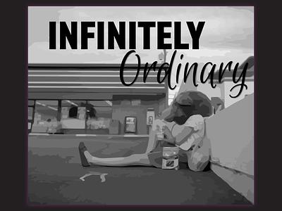Infinitely Ordinary Life typography illustration branded logo branding vector icon flat minimal design
