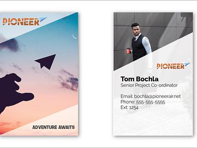 Pioneer Business Cards illustration business card logo vector branding icon flat minimal design