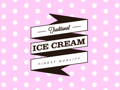 Vintage Ice Cream Van Logo Concept 3