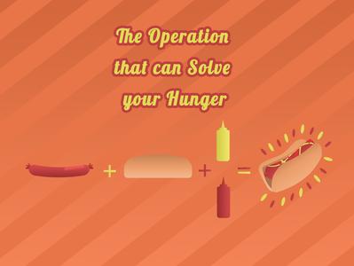 Hot Dog Recipe fast food fastfood ketchup mustard sausage hotdog concept illustration food design