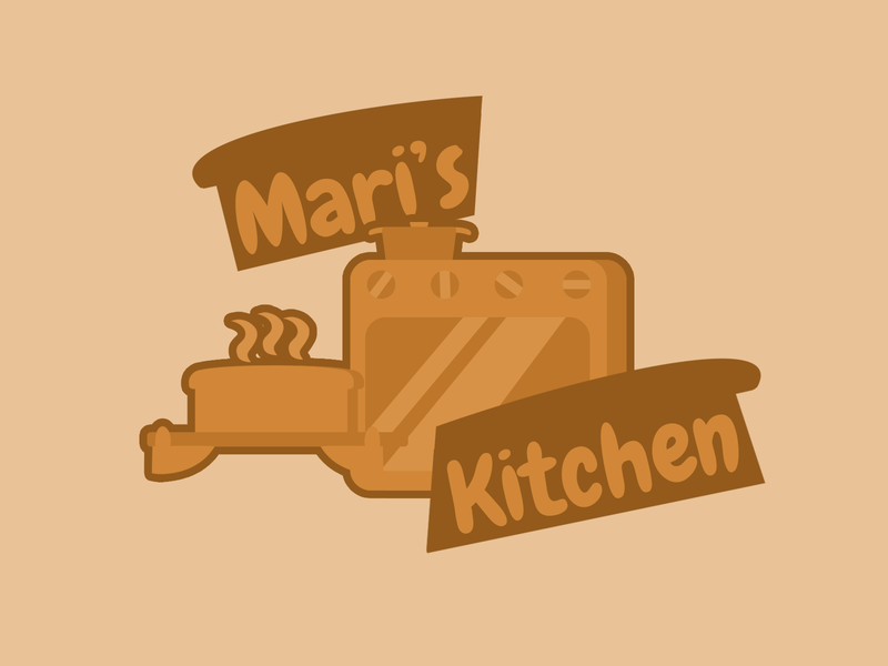 Bakery Logo Concept cooking gloves oven furnance bread logo illustration concept design