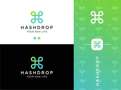 Hashdrop graphic design branding vector medical simple symbol ios app icon logomark drops hashtag logo hashtag organization gradient minimal modern health logo health logo design logo