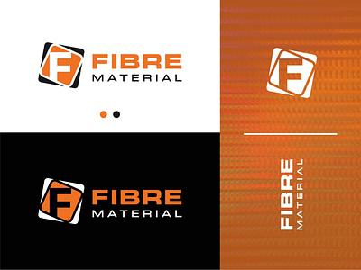 Fibre Material negative space cable modern creative gradient simple branding logo design brand logo logotype logomark graphic design ui f logo letter f logo fibre cables company optical cables fibre logo