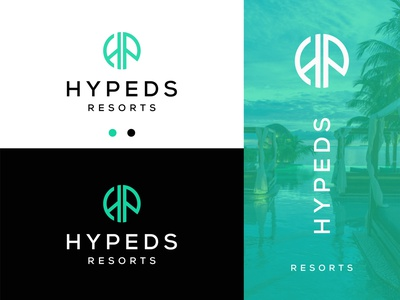 Hypeds Resorts graphic design creative zero circle simple logo designer logomark p logo h logo letter p letter h resort logo resorts ui design logotype modern branding logo design logo