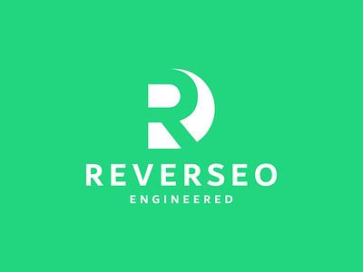Reverseo Engineered illustration vector letter mark creative google logo symbol 3d modern loho 2021 logo letter r logo mark negative space r logo seo agency seo service seo engineer green branding logo design logo