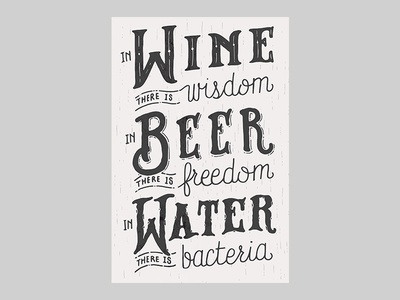 In Wine There Is Wisdom - Print by Grayson Stallings ...