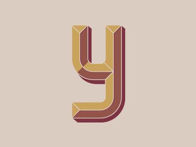 Bold Y vector type sansserif graphic dropcap design bold bevel ai adobe