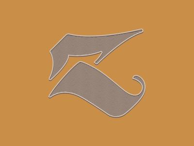 Bold Z vector type script graphic dropcap design bold bevel ai adobe