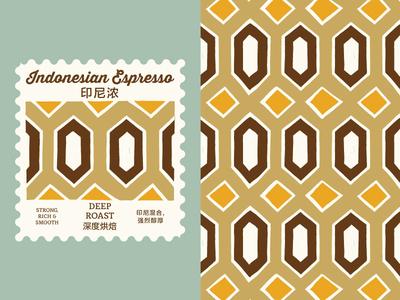 Indonesia Espresso Roast Pattern branding coffee roast coffee graphic design pattern