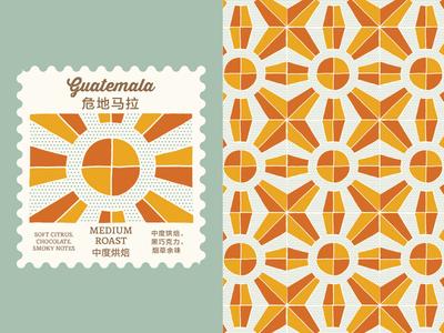 Guatemala Roast Pattern branding coffee roast coffee graphic design pattern
