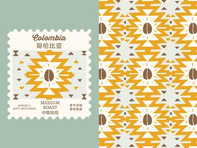 Colombia Roast Pattern branding coffee roast coffee graphic design pattern