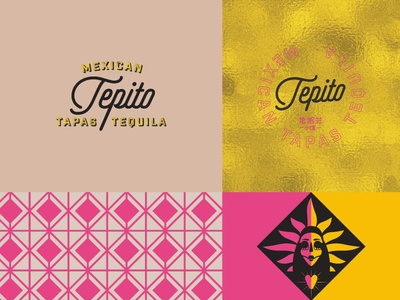 Tepito Mexican Tapas Visual Identity mexican pattern script logo mark visual identity graphic design branding