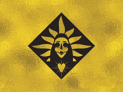 Tepito Santa Muerte Logo Mark mexican santa muerte logo mark visual identity graphic design branding