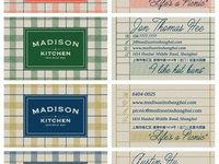 Madison Kitchen Business Cards