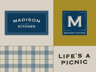 Madison Kitchen Visual Identity patterns logo mark logo logo design vi shanghai american deli graphic design branding