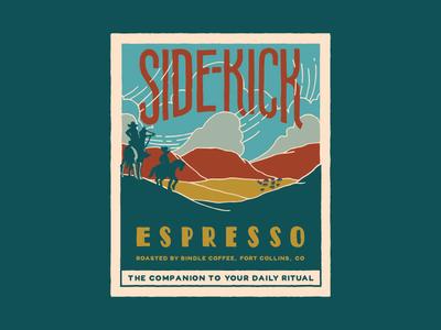 Bindle Side-Kick Espresso Label plains colorado bindle espresso roast coffee label design label graphic design design