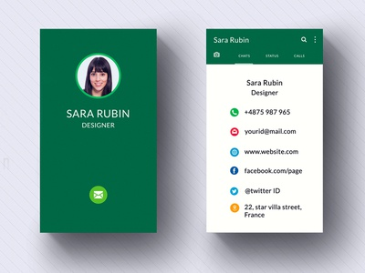 Whatsapp Style Business card | Tutorial