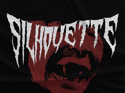Silhouette horror lines fiber black red lettering type poster riga latvia