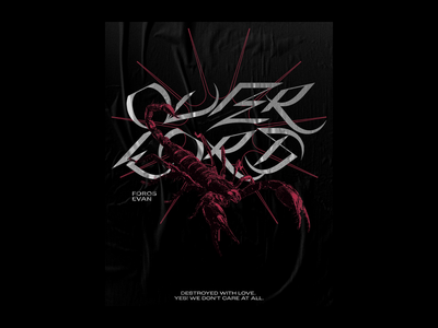 Overlord Merch Design & Poster bold acid overlord pink star scorpion typography poster latvia riga