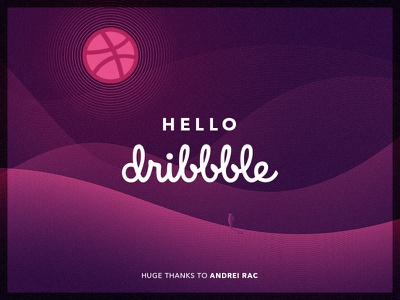 Dribbble Debut latvia riga purple illustration debut