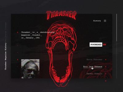 Thrasher Magazine History Web Design Concept