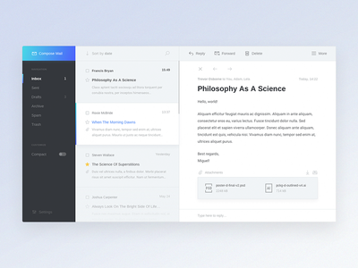 Mail Client Design Concept client email concept app ux ui design web latvia riga