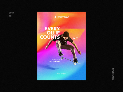 Skateboarding Poster Concept skateboard adidas nike photoshop type concept sportland skate poster latvia riga