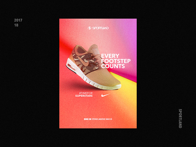 Sneaker Poster Concept star super footsteps run type sport sneaker nike peach poster latvia riga