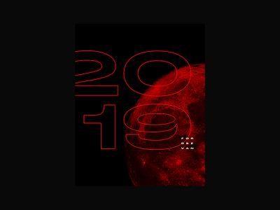 2019 🔥 FOROS EVAN logo grotesk typogaphy moon blood black red 2019 latvia riga