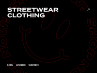 Streetwear Clothing Site Visual Concept