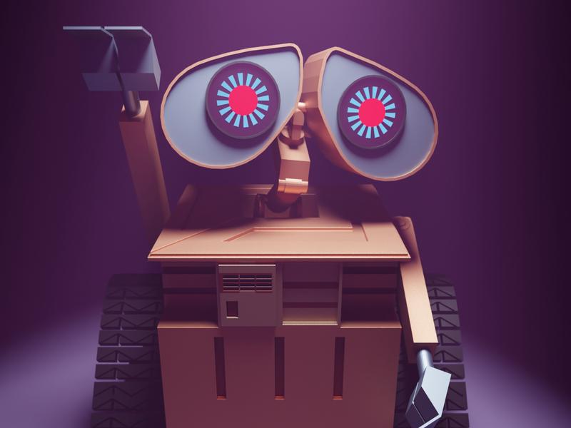 Wall_E design illustration blender 3d blender movie