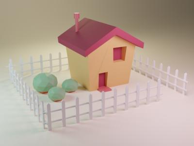 Something simple lowpolyart illustration design blender 3d blender