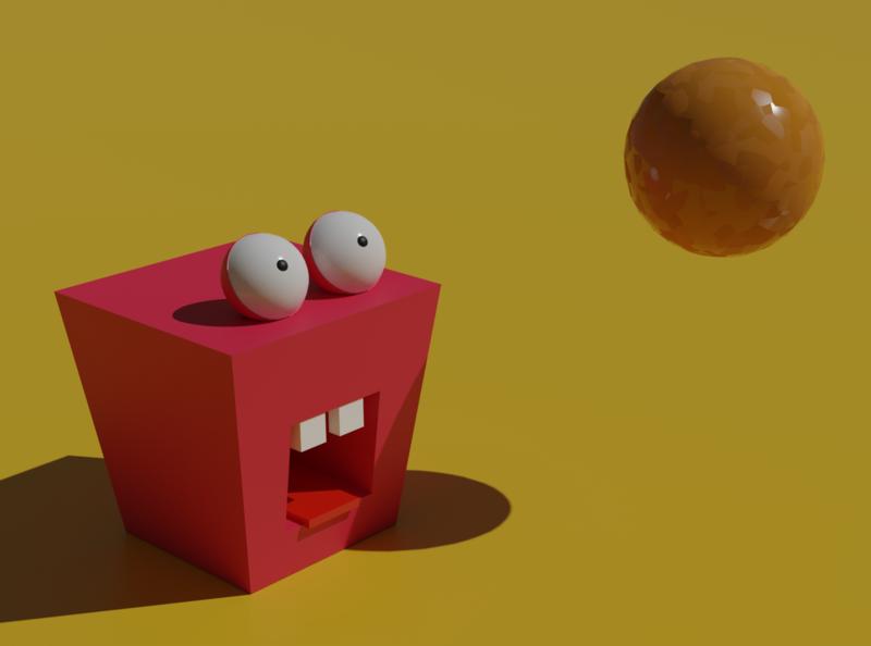 Square and sphere illustration design blender 3d blender