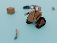 wall e movie illustration design blender 3d blender
