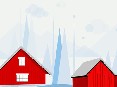 Hello Winter sketches art minimal snow house winter vibrant colors cool colors theme vector illustration