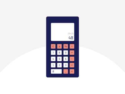 Old School calculator. Daily UI Challenge design web ui