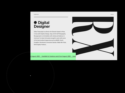 Folio Draft website minimal layout concept webdesign portfolio minimalism type design