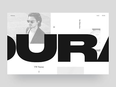 [WIP] Landing website webdesign ux portfolio minimalism white black bold type design