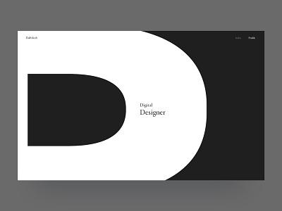 [WIP] Profile graphic design porfolio heavy bold white black minimalism contrast letter type typography