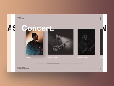 Exploring layers type photography layout web design